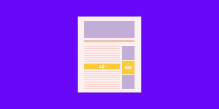 few ads website