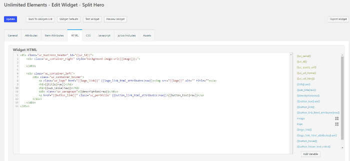 unlimited elements html