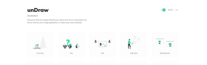 undraw design resources