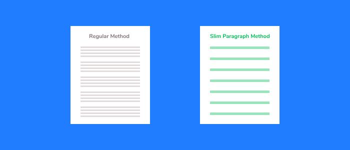 slim paragraph method