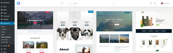 Preview a theme template