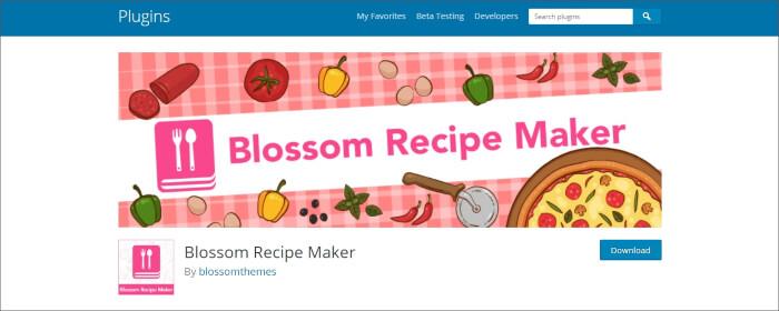 blossom recipe plugins