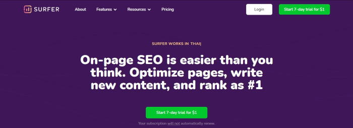 surfer seo tools
