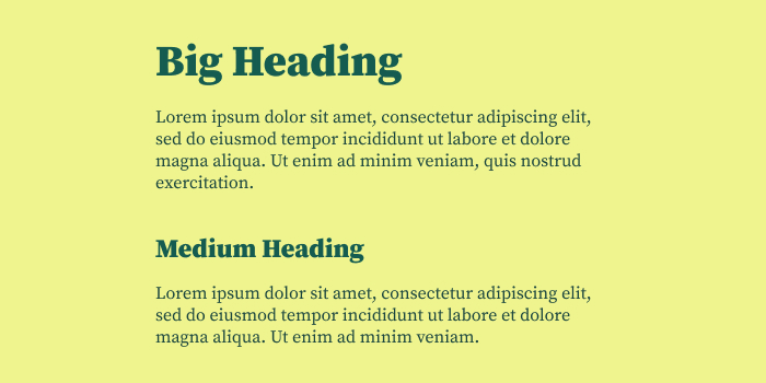 typography hierarchy