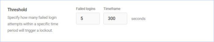 limit failed login