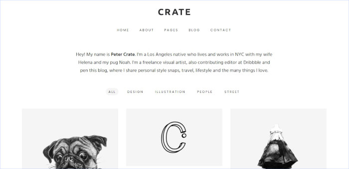 Crate wordpress theme