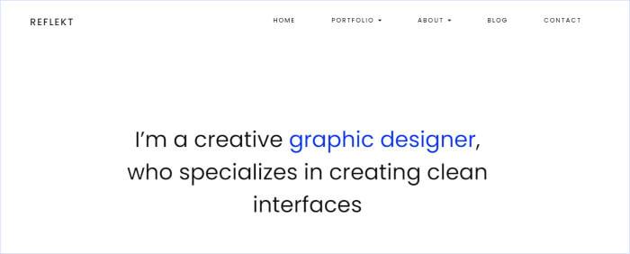 Portfolio theme for wordpress