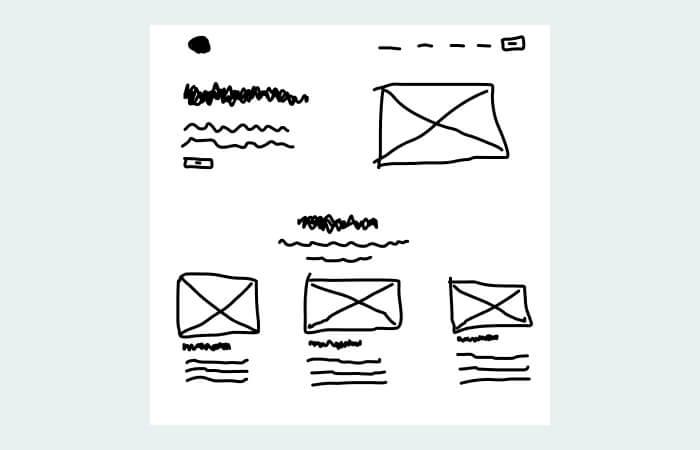 design websites with sketches