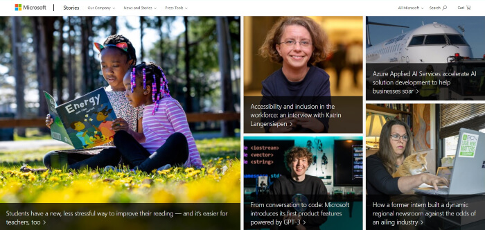 MS News portal built with WordPress