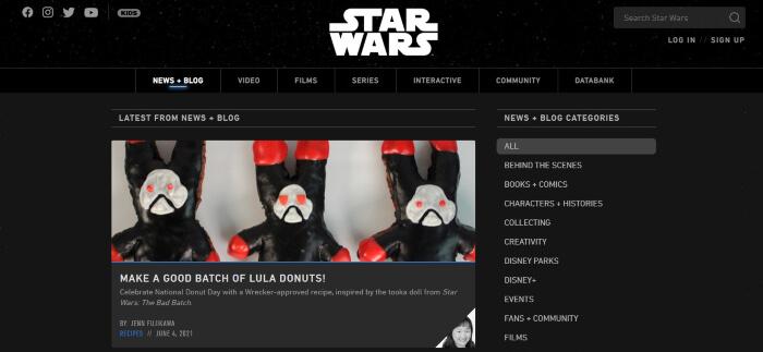 official star wars blog
